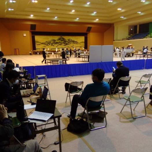 2020宇陀市議会議員選挙 開票作業(総合体育館)